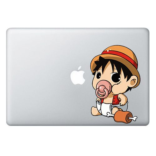 Size the pacifier series macbook laptop decals are 4 inches cm wide and the length depends on the character please check the sample image below for an