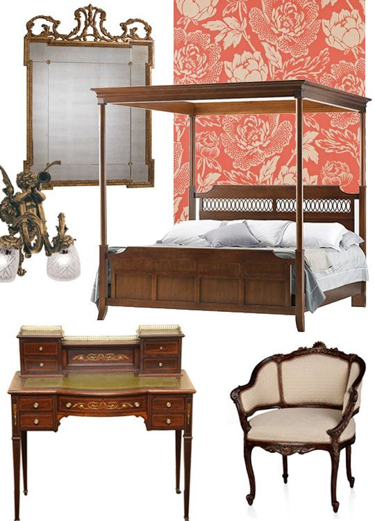 If only I had 10K+ dollars to spare on redecorating my bedroom, then, yes, I would totally design it à la Downton Abbey!