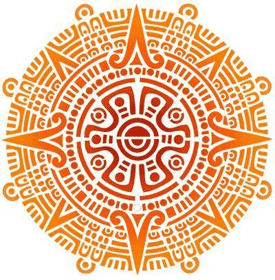 Inca Sun Symbols Retro vintage aztec tribal pattern hard back cover case for