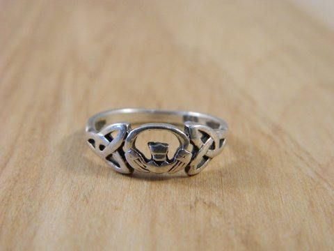 Sterling Silver Claddagh and Trinity Knot Ring / Vintage Promise Ring / Irish Heart Ring Size 6.5 by VintageBaublesnBits on Etsy