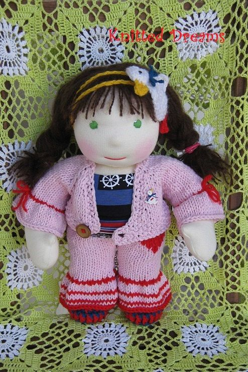 Handmade Waldorf Doll Agnes 13.7 35cm by tatocka on Etsy, $140.00