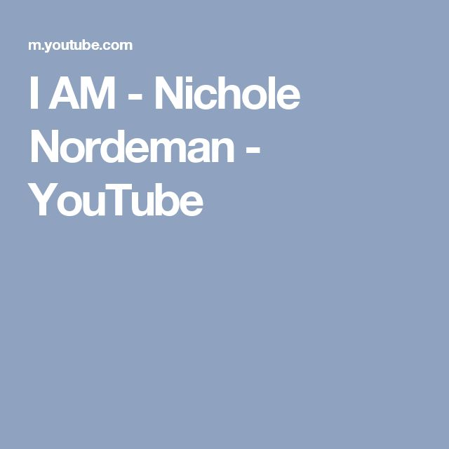 I AM - Nichole Nordeman - YouTube