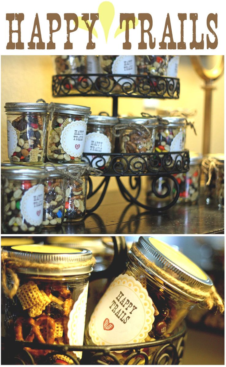 western: Party'S, Westerns Parties Favors, Western Parties, Happy Trails, Western Party Favors, Parties Ideas, Trail Mixed, Baby Shower