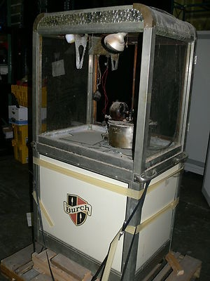 A Burch popcorn machine for sale on eBay--located in Atlanta, GA.