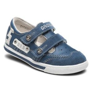 γκρί με λεπτομέρεις σιέλ casual παπούτσι