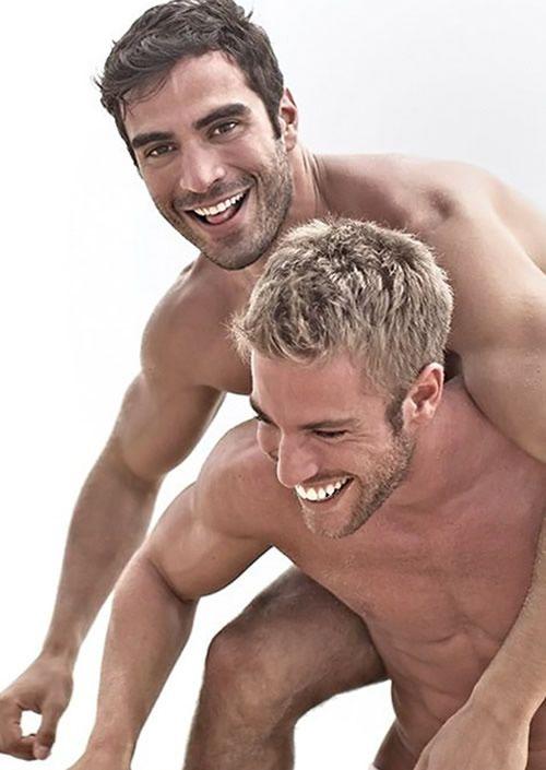 Gorgeous men on the beach