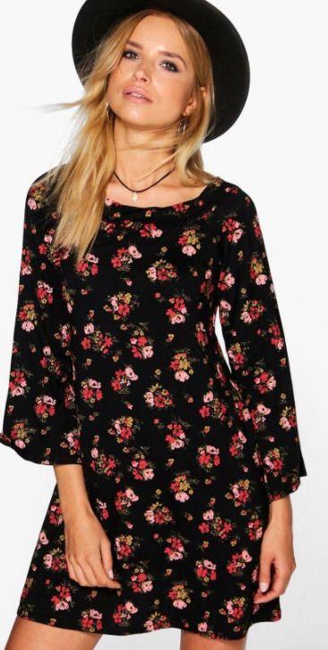 ff5a6bc036b5e Boohoo Lorelai Floral Bardot Shift Dress Size 8 LS076 DD 12 #fashion # clothing #shoes #accessories #womensclothing #dresses (ebay link)