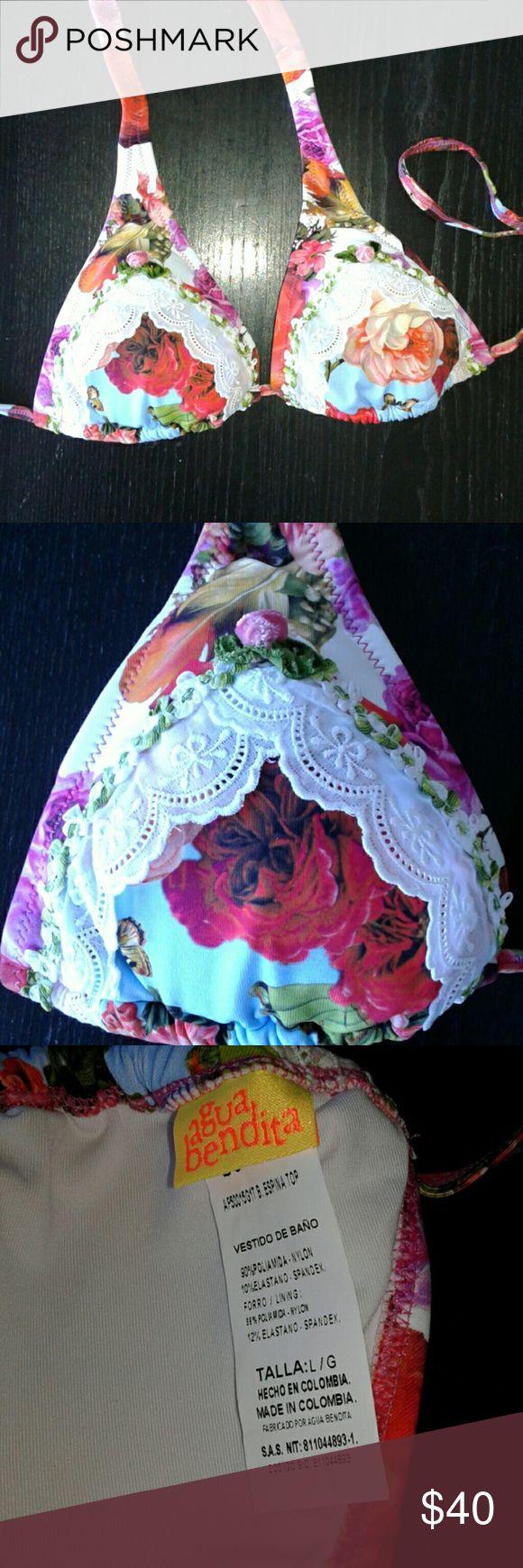 Agua Bendita bikini top Brand new with tags. Size Large. Agua Bendita Swim Bikinis