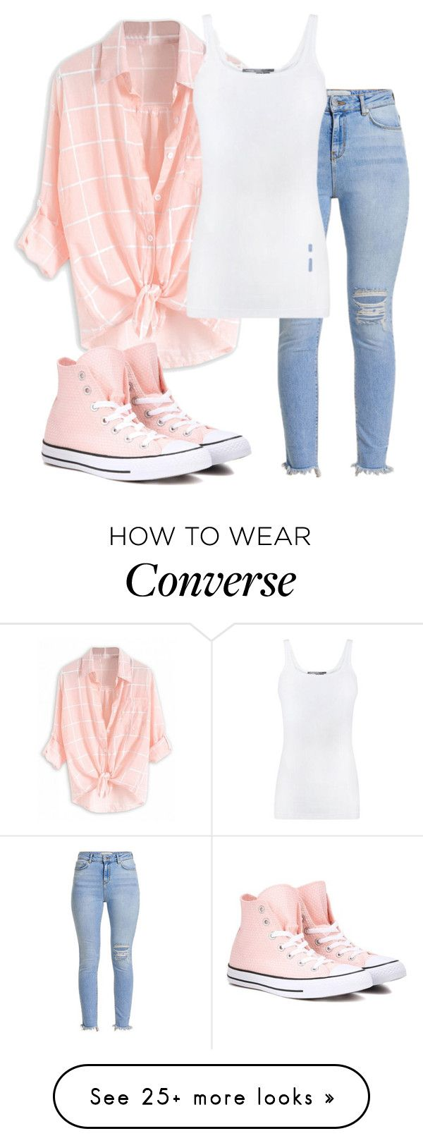 """Untitled #218"" by whatisshewearing on Polyvore featuring Converse and Vince"