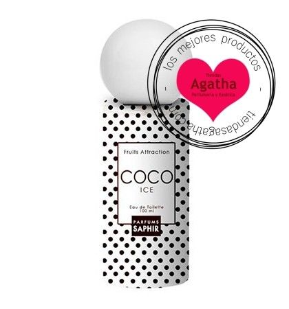 Saphir Coco Ice Fruits Attraction Edt 100 ml.    Saphir Coco Ice Fruits Attraction es un perfume divertido y con un aroma exótico inspirado en el aroma del coco.