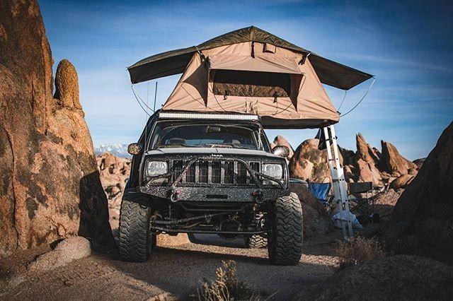 Basic overlanding photo #jeep #xj #cherokee #camp #rtt #smittybilt #jcroffroad #jeepology : @daniel_munden