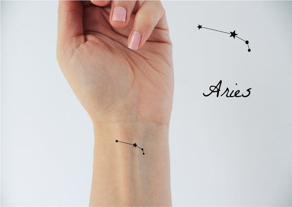6 Widder Sternzeichen Temp Tattoos / temporäre Tätowierungen / Widder Sternzeichen / Widder Konstellation / Sterne Temp Tattoo / Konstellation Tatto…