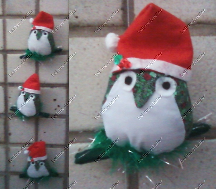 Corujinhas natalinas para deixar sua casa um charme. Tamanho: 1,17 m de extensão.Coruja: 8 x 15 cm. É preciso encomendar. #natal #corujasnatalinas #christmas