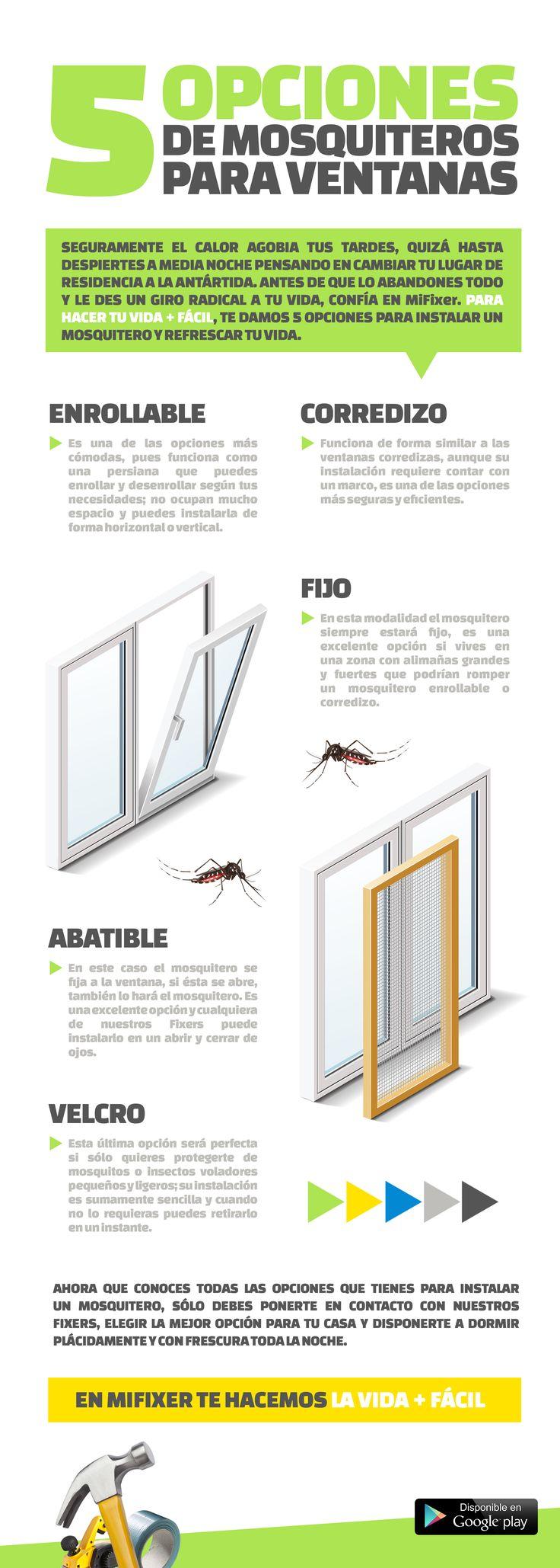 5 opciones de mosquiteros para ventanas