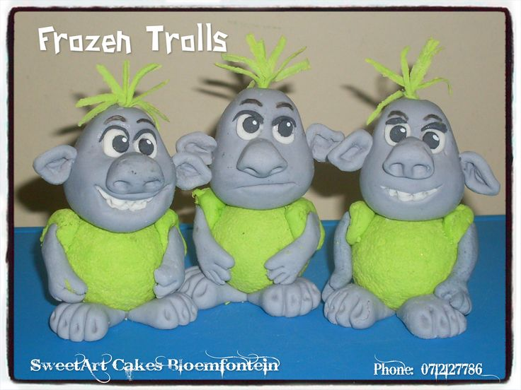 FROZEN FONDANT TROLLS For more info & orders, email SweetArtBfn@gmail.com or call 0712127786. Connect with us on Facebook @ https://www.facebook.com/SweetArtCakesBfn