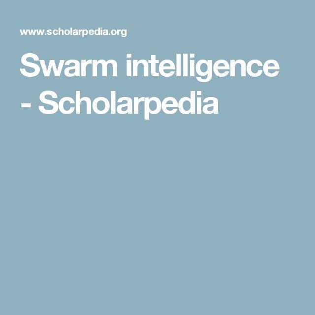 Swarm intelligence - Scholarpedia