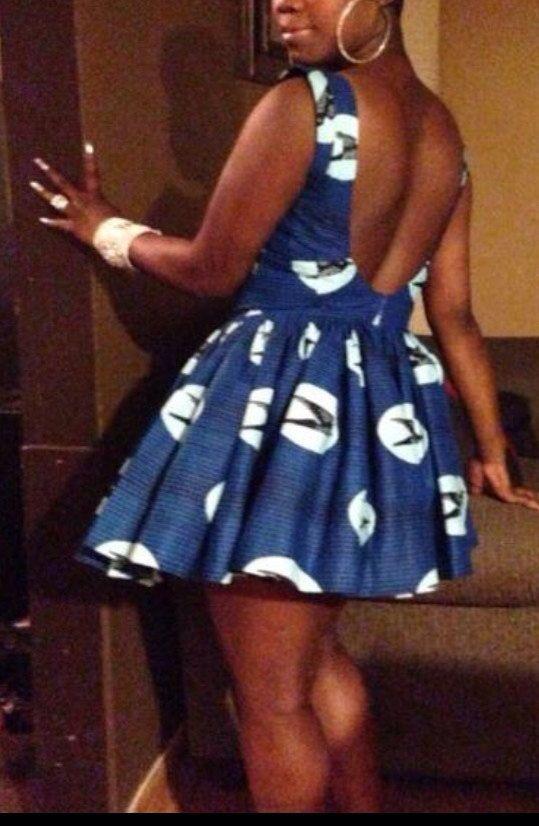 African Dress African print African short dress by BurgundybyPK
