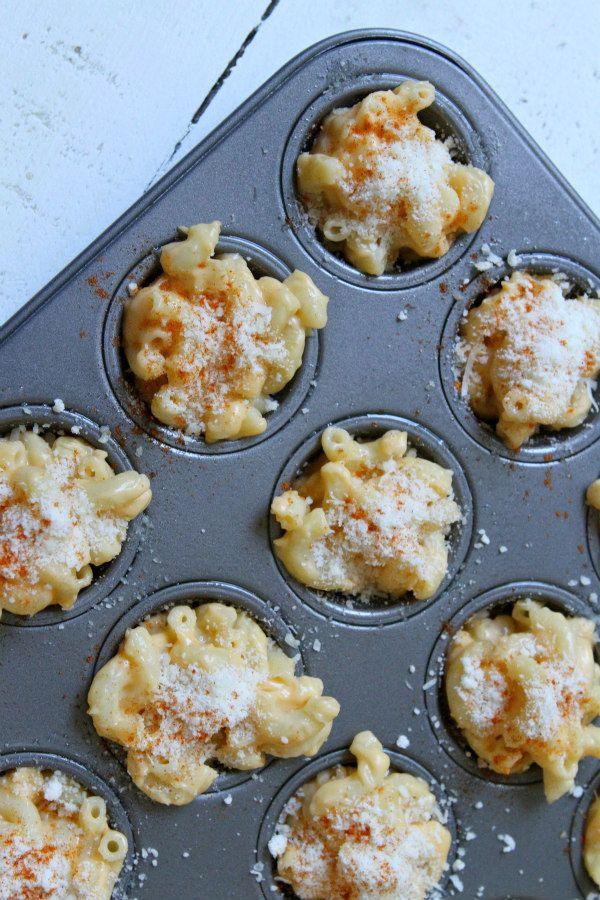 Mini Macaroni and Cheese Appetizers recipe - from RecipeGirl.com