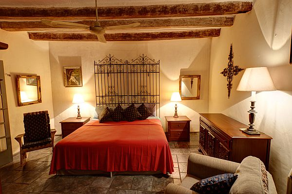 Beautiful bedroom design with a Spanish influence