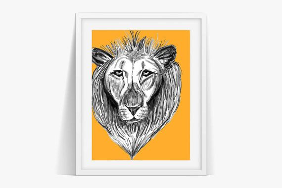 Check out The Lion Art Print Poster Digital Download on janesapple
