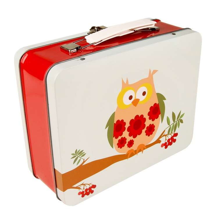 Funky Owl Lunch Box