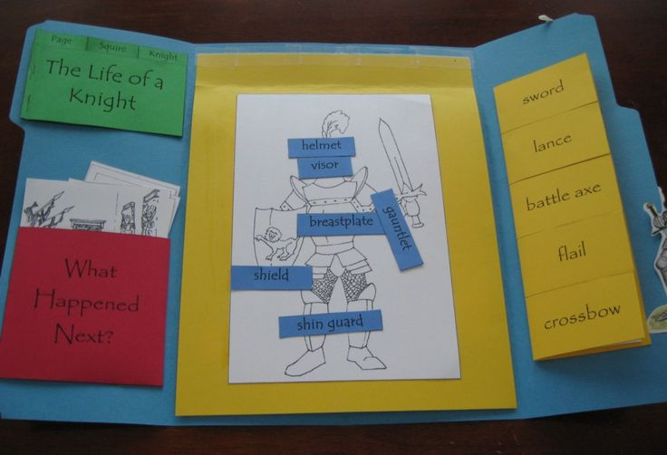 Free Knights Lapbook  Might use one or two of these for the boys at home