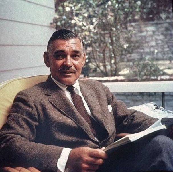 Clark Gable at his home in Encino, CA. in 1957.   Movie ...