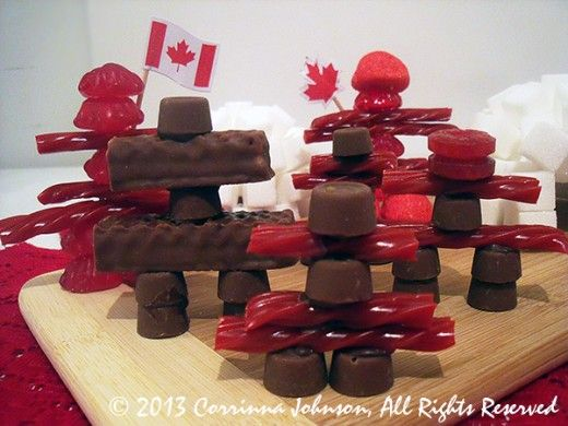 Canada Day Food Art - Inukshuks ... so creative ...