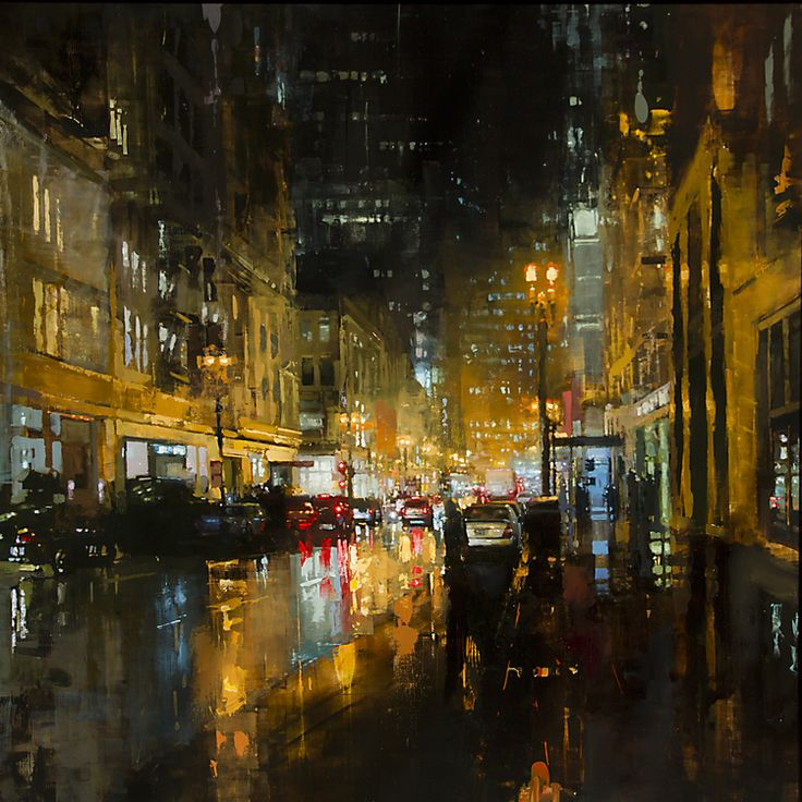 """Post Street Downpour"" ... by Jeremy Mann"