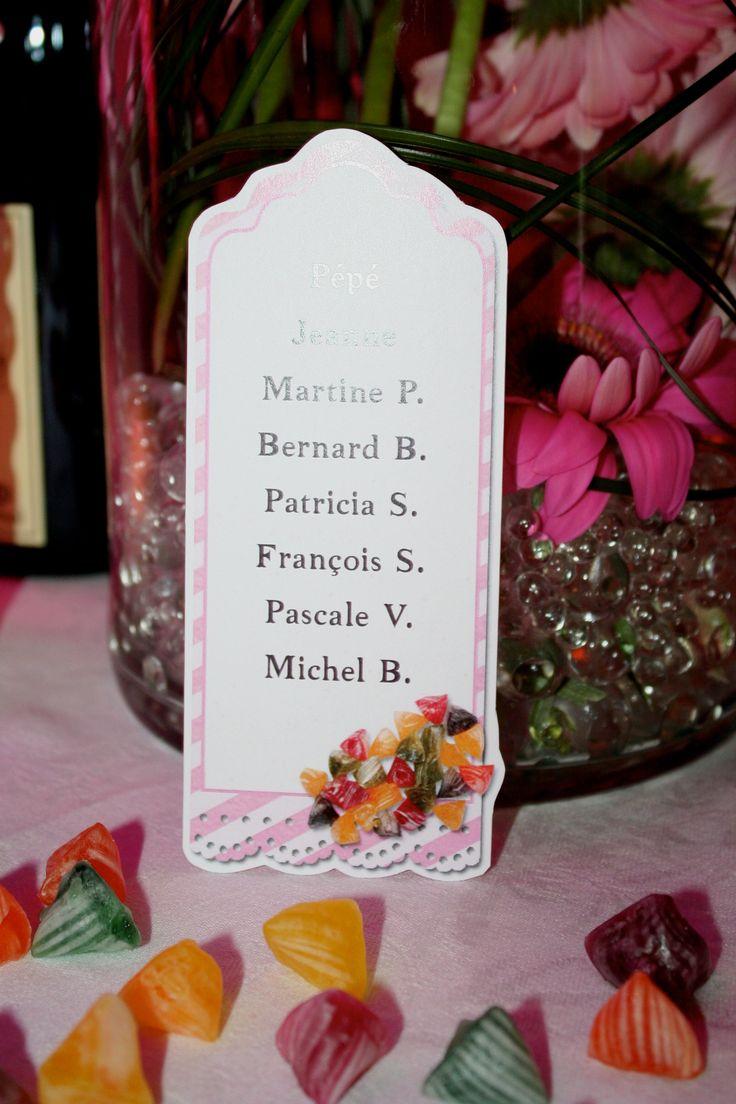 Diy nom de table mariage th me gourmandise mariage for Table theme gourmandise