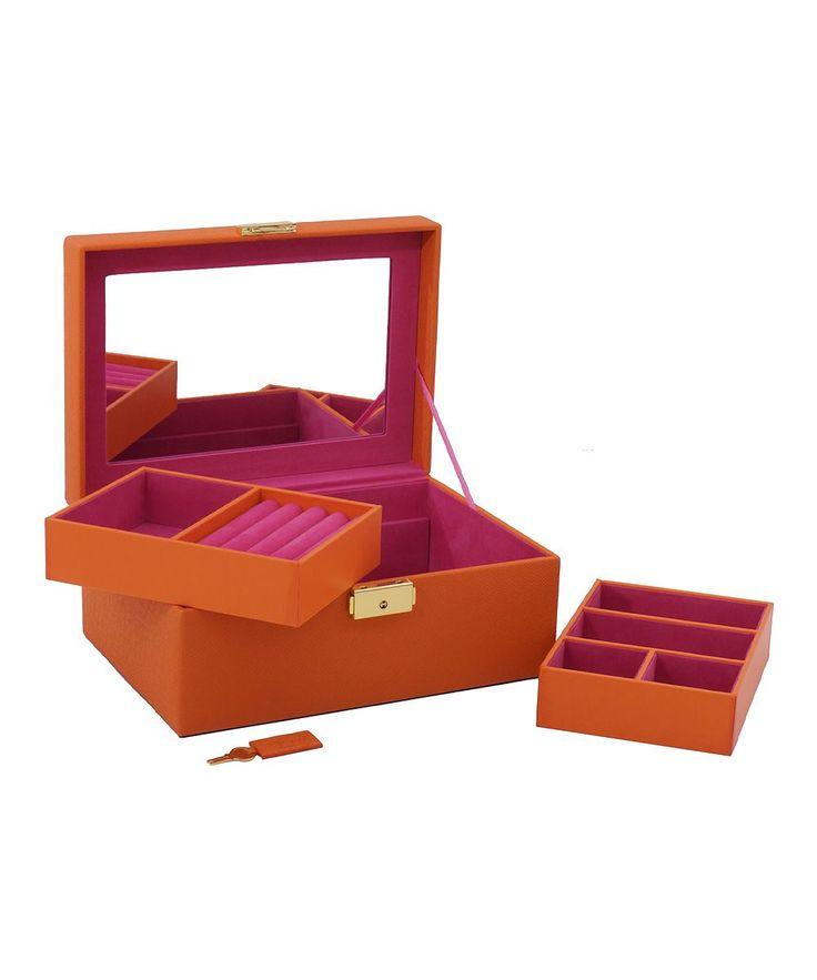 Orange Brighton Small Jewelry Box