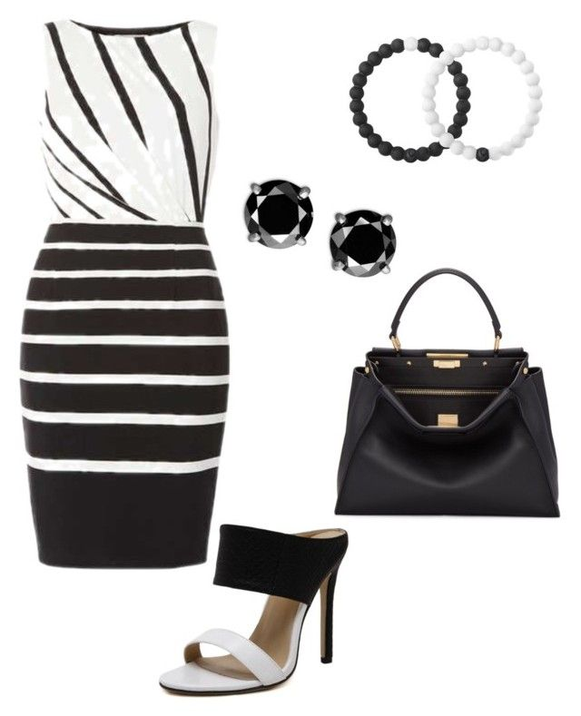 """""""black&white"""" by mylittlestar on Polyvore featuring Fendi and Lokai"""