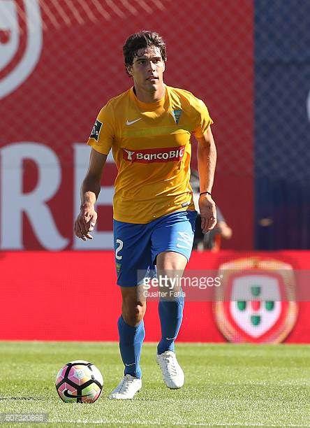Estoril's defender Joao Afonso in action during the Primeira Liga match between GD Estoril Praia and Moreirense FC at Estadio Antonio Coimbra da Mota...