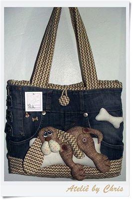 Doggy Denim Bag