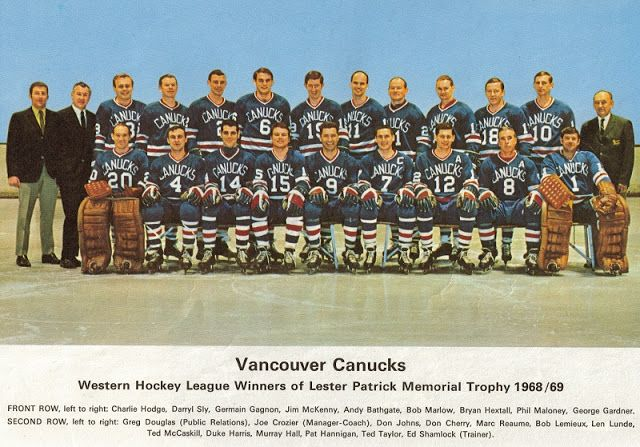 Vancouver Canucks before they were in the NHL (1968-69).