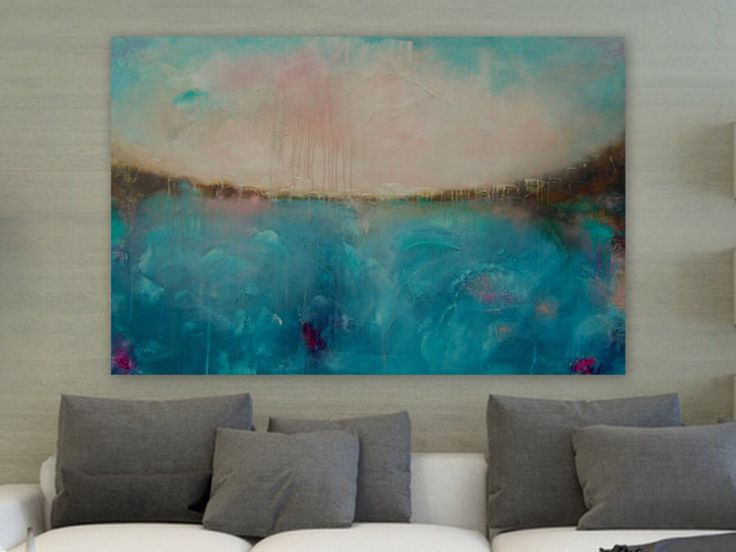 """Large 60"""" by 40"""" Huge Colorful Wall Art Painting Abstract Landscape Painting Textured Painting  """"Dreamland"""" by Itisfine on Etsy https://www.etsy.com/listing/204936351/large-60-by-40-huge-colorful-wall-art"""
