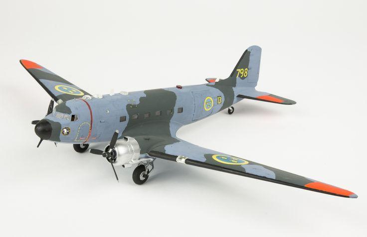 Model aeroplane Tp 79, Douglas Aircraft Dakota. Skala 1:72   Flygvapenmuseum   CC BY