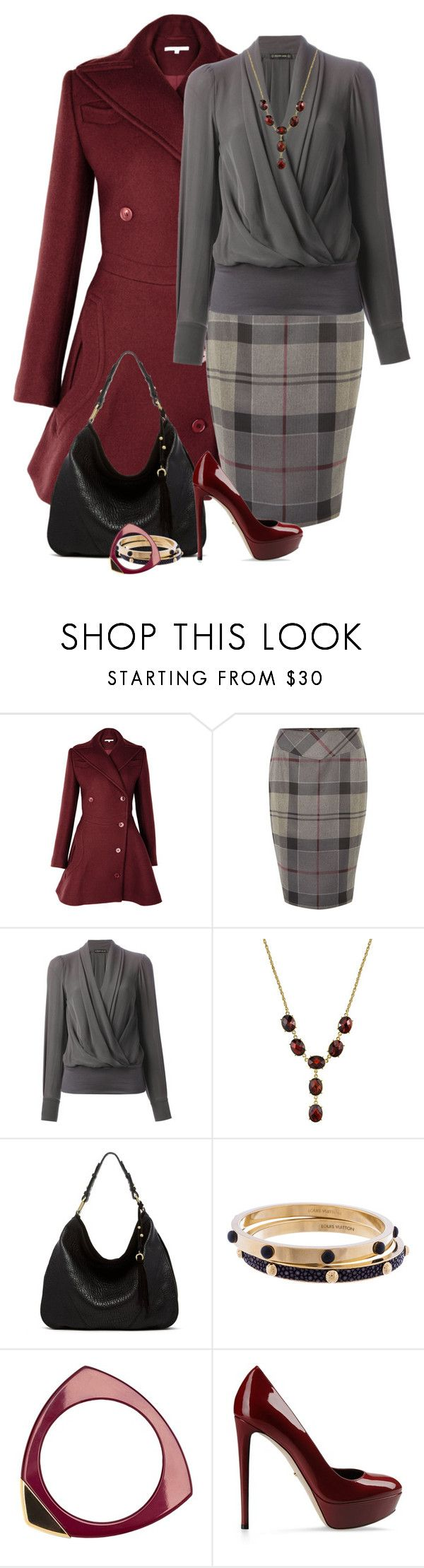 Red Bouquet by meltog on Polyvore featuring Plein Sud, Barbour, Sergio Rossi, Ella Moss, Louis Vuitton and 1928