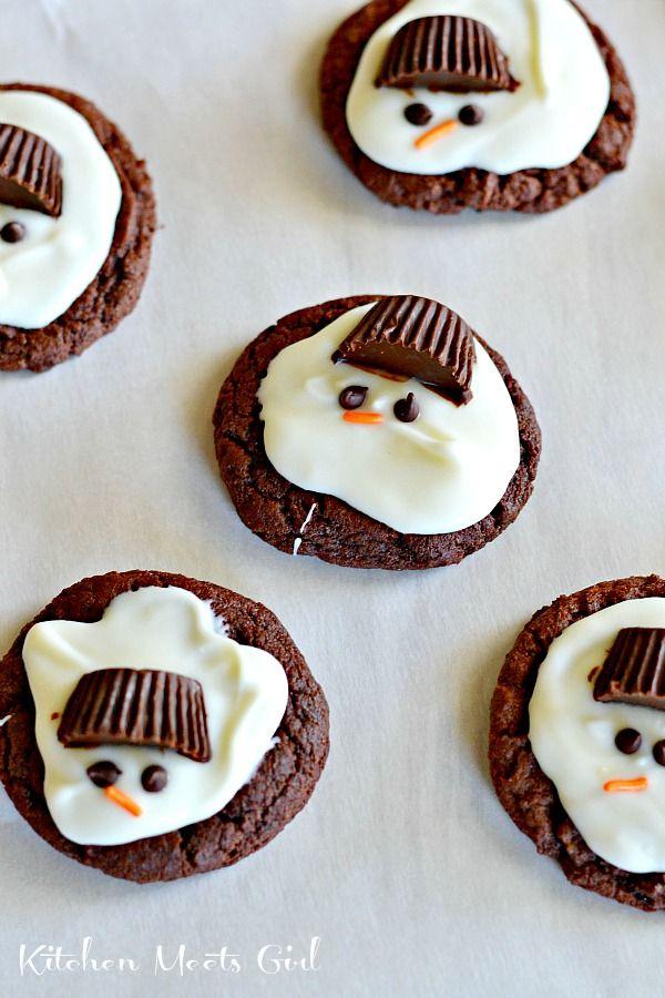 Sweet Christmas Food Gifts , Melting Snowmen