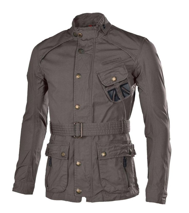 Superdry Men's Cotton Moto Belted Military Field Jacket-Gray #Superdry #Military