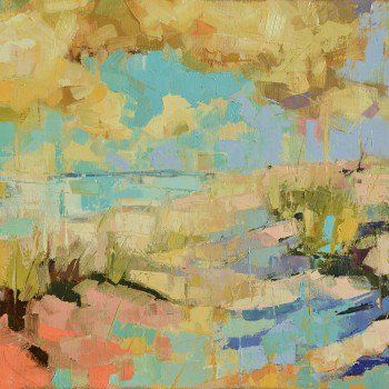 """DUNES XXXVII"" by Kim McAninch. A beautiful original expressionist painting by Kim. Click here to view more beautiful original art on FineArtSeen l The Home Of Original Art. >> Pin For Later <<"