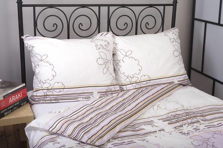 Pościel satynowa Valentini Bianco MIAMI VIOLET, 160x200 + 2x 70x80 cm oraz 220x200 + 2x70x80 cm, 100% bawełna.