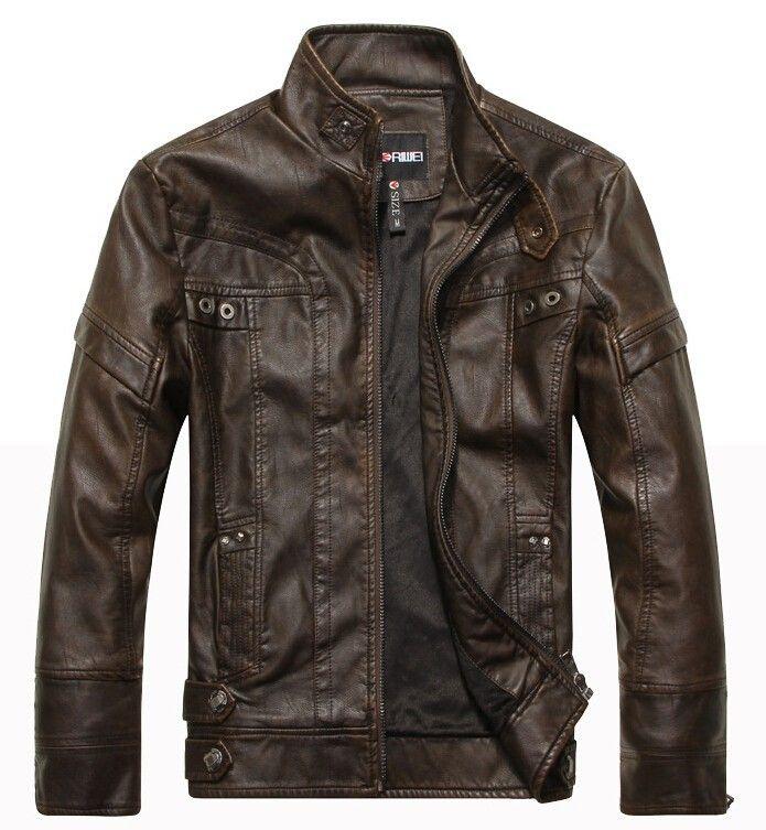 Aliexpress.com: Comprar La chaqueta de cuero del Collar del soporte ocasional Parka bombardero chaquetas de la motocicleta abrigos Jaqueta de couro masculina más tamaño de Cuero y Ante fiable proveedores en Global Fashion & Health Care Store