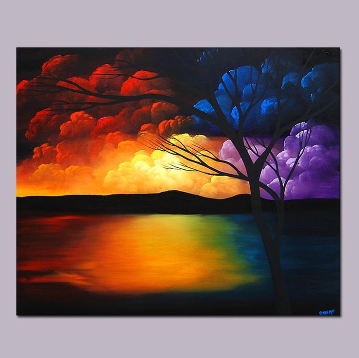 abstract art paintings | Modern Seascape Painting - Stairway to Heaven