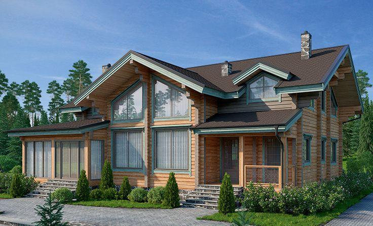 Коттедж «Лисичкин лес» (К-236), общая площадь — 276,4 м2, автор проекта: архитектор Семен Малюк, компания «КСДом», проекты домов в журнале «Деревянные дома»