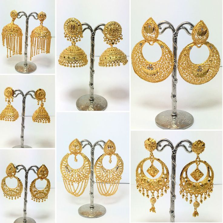 New Gold Plated Earring Indian Jhumka Drop Dangle Chandelier Bollywood Jewelry in Jewellery & Watches, Ethnic & Tribal Jewellery, Asian | eBay