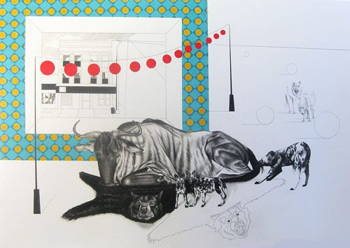 Drawings and paintings by artist Melissa Murray