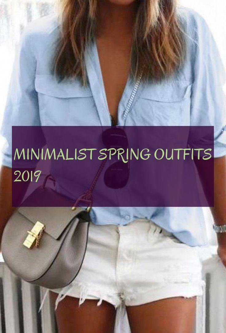 minimalistische Frühlingsoutfits 2019 #minimalistisch #spring #outfits # 2019 minimalistisch ...