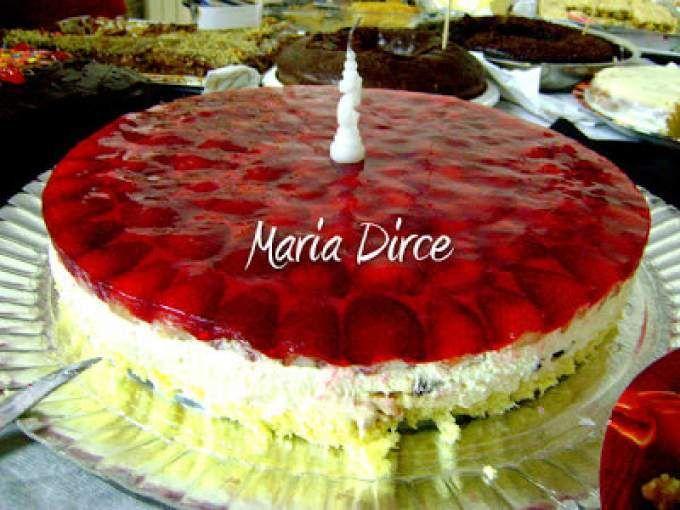 Bolo Gelado de Morango - Encontro 2009 (Maria Dirce)