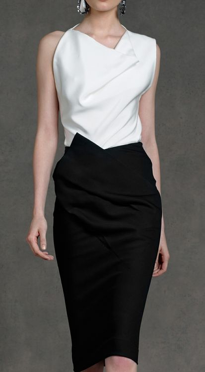 Donna Karan Resort Collection 2013 (I'll be honest, I don't know if this is a dress or a skirt/blouse combo, and I'm far too lazy to research it)